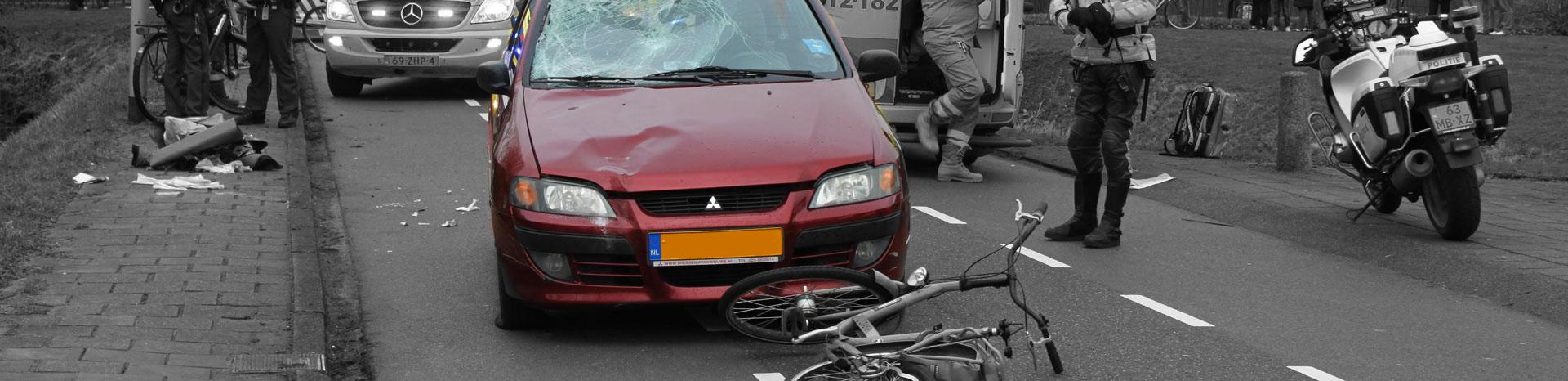Aanrijding auto-fiets